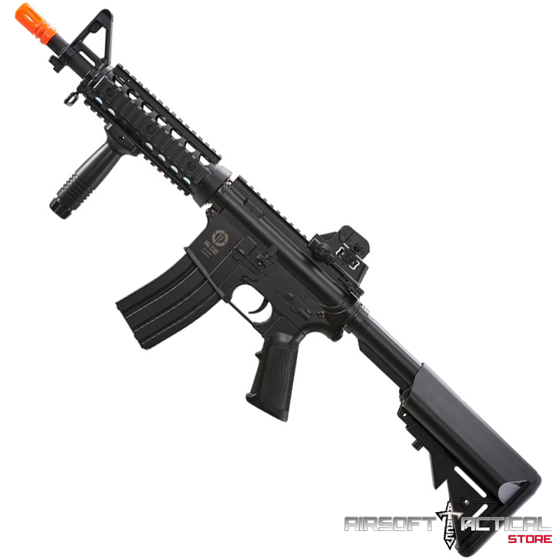 Tactical Force M4 CQB Sportline AEG – Black (Package: Include Battery and Charger) by Elite Force