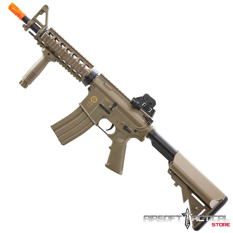 Tactical Force M4 CQB Sportline AEG – Tan (Package: Include Battery and Charger) by Elite Force