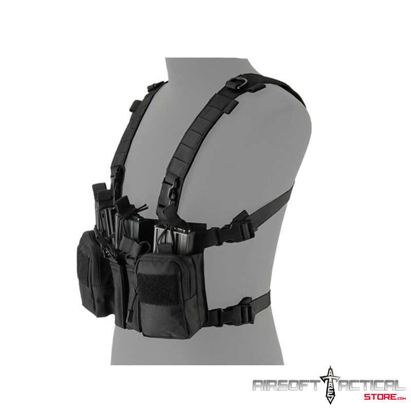 Tactical Chest Rig (Color: Black) by Lancer Tactical