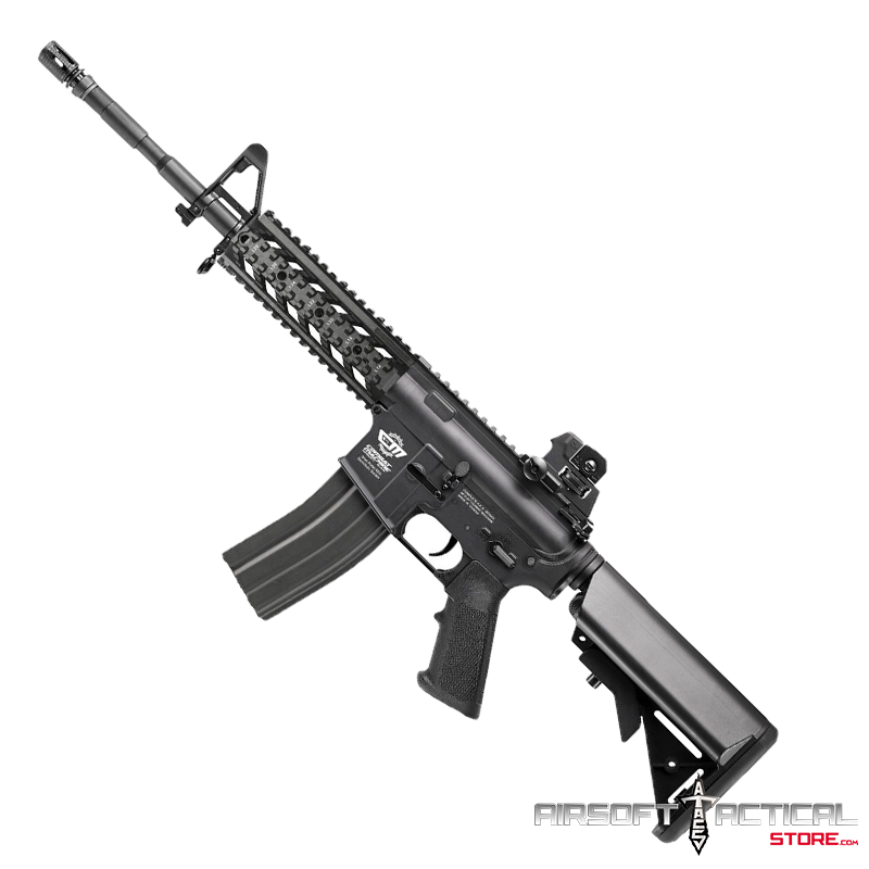CM16 Raider Picatinny Full Metal Gearbox AEG (Color: Black) by G&G Armament