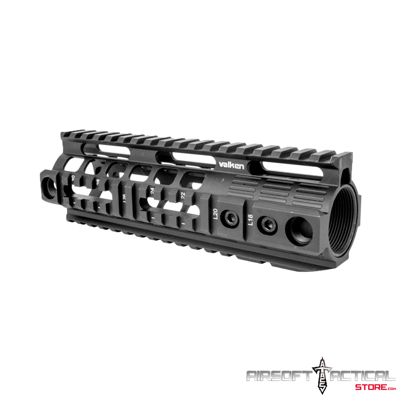 Free Float Quad Rail Handguard 7″ (Color: Black) by Valken