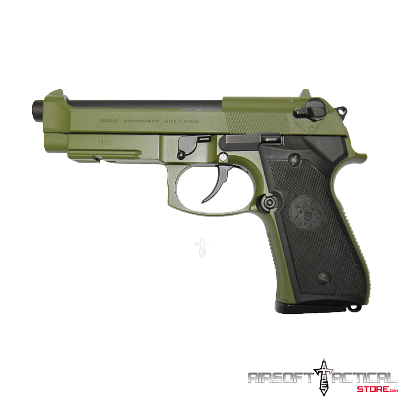 GPM92 GP2 Full Metal Gas Blowback Airsoft Pistol (Color: Green Hunter) by G&G Armament