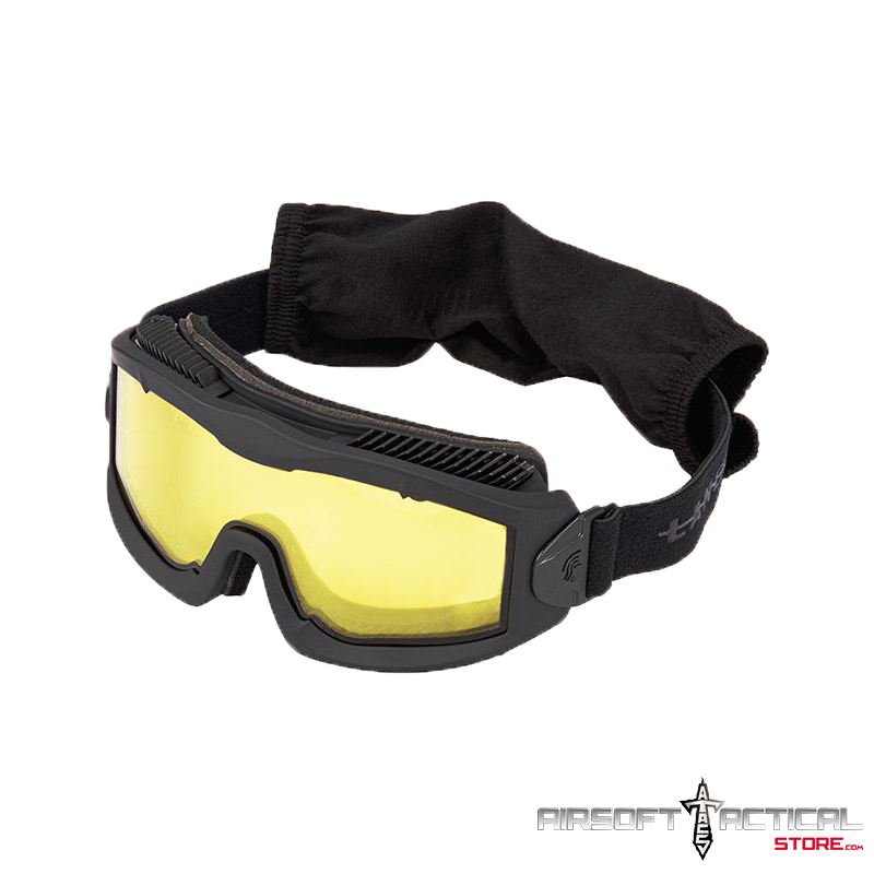 Aero Protective Goggles (Color: Black/ Lens: Yellow) by Lancer Tactical