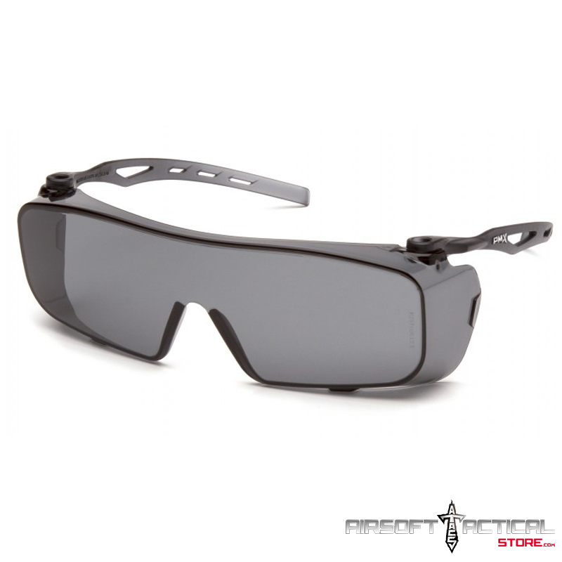 CAPPTURE Gray H2X Anti-Fog Lens with Gray Temples (Over Lenses) by Pyramex