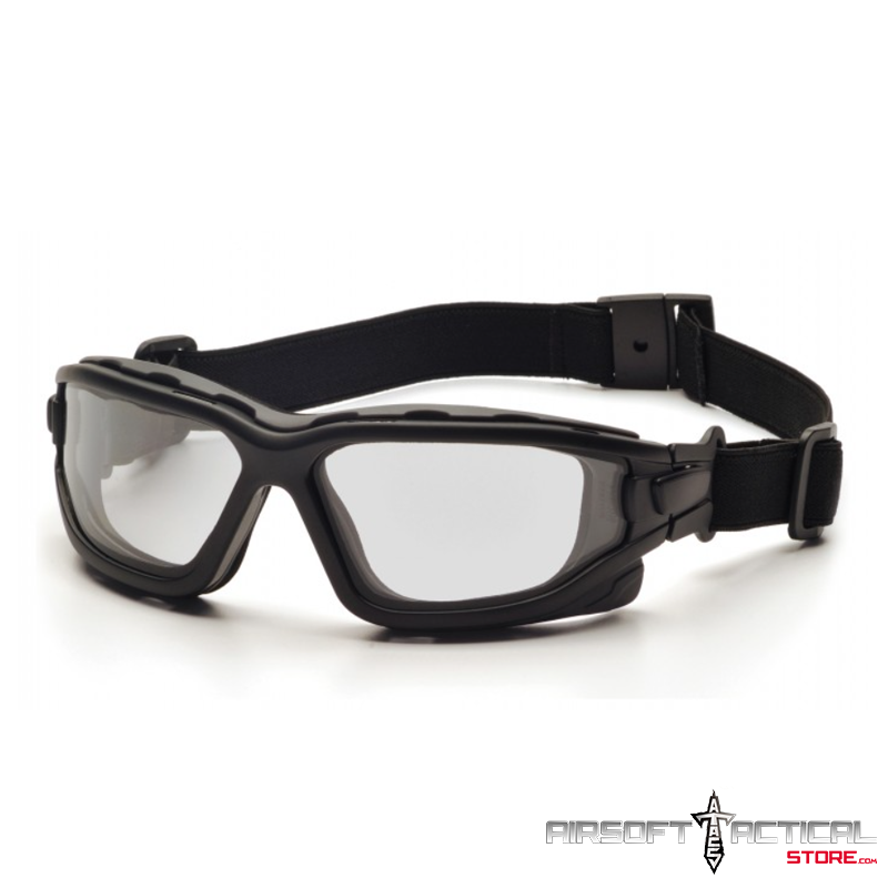 Goggles Black Frame / Dual Pane / Thermal / Clear Lenses w/H2X by Pyramex