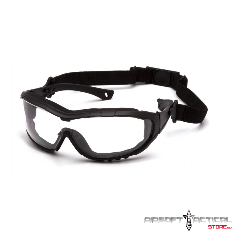 Clear V3T Anti-Fog Lens H2X with Black Temples/Strap by Pyramex