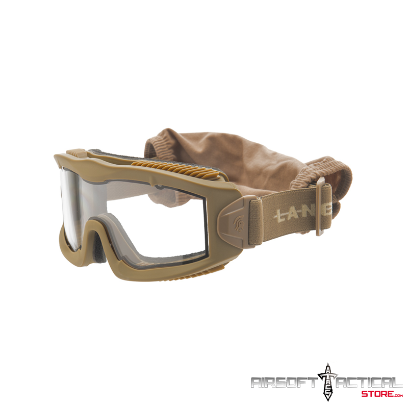 Aero Protective Goggles (Color: Tan/ Lens: Clear) by Lancer Tactical
