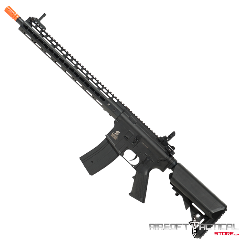 Keymod 15″ rail M4 AEG (Color: Black) Lancer Tactical