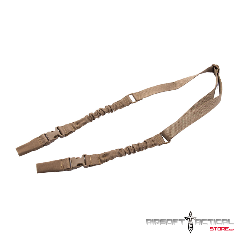 2-Point Bungee Sling with Dual Buckles (Color: Tan) by Lancer Tactical