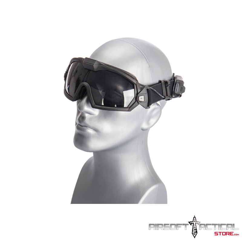 Tactical Anti-Fog Goggles (Frame: Black Lens: Clear and Smoke) by Lancer Tactical