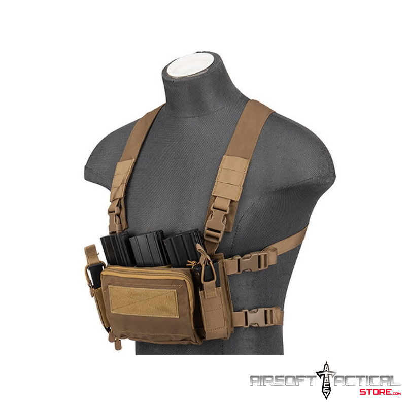 Multifunctional Tactical Chest Rig (Color: Tan) by Lancer Tactical