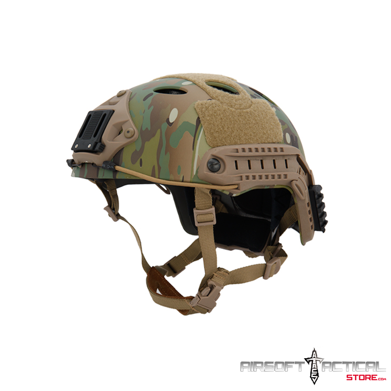 PJ Helmet w / Side Rails and Shroud (Color: Multicam) by Lancer Tactical
