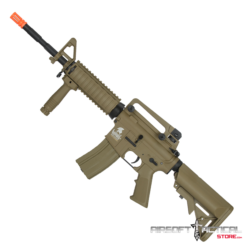 Sopmod M4 AEG Combo (Color: Tan) by Lancer Tactical