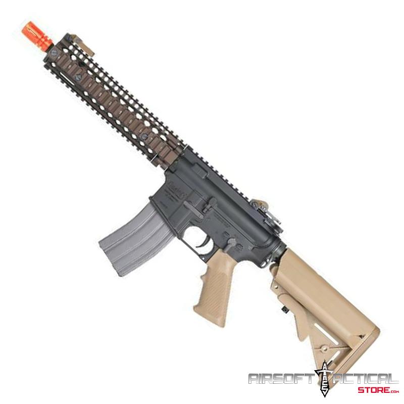 Daniel Defense Licensed MK18 VFC Avalon Metal AEG (Color: Bronze/ Black/ Tan) by VFC