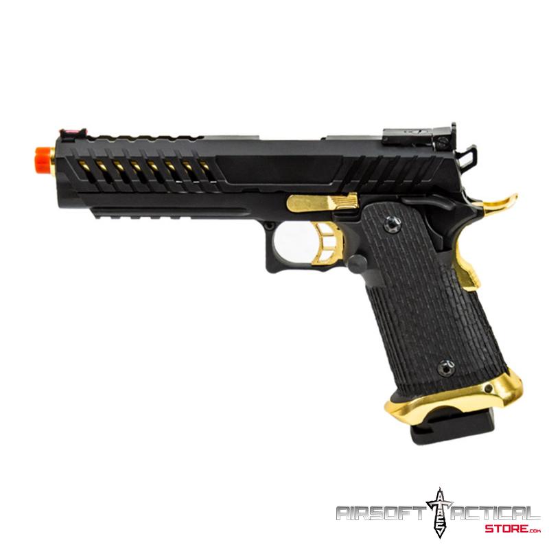 Knight Shade Hi-Capa Gas Blowback Airsoft Pistol (Color: Black / Gold) by Lancer Tactical
