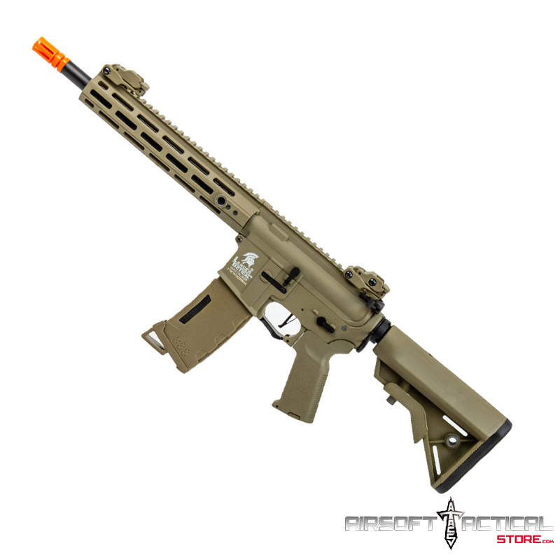 M4 Hybrid Gen-3 10″ M-Lok Rail AEG (Color: Tan) by Lancer Tactical