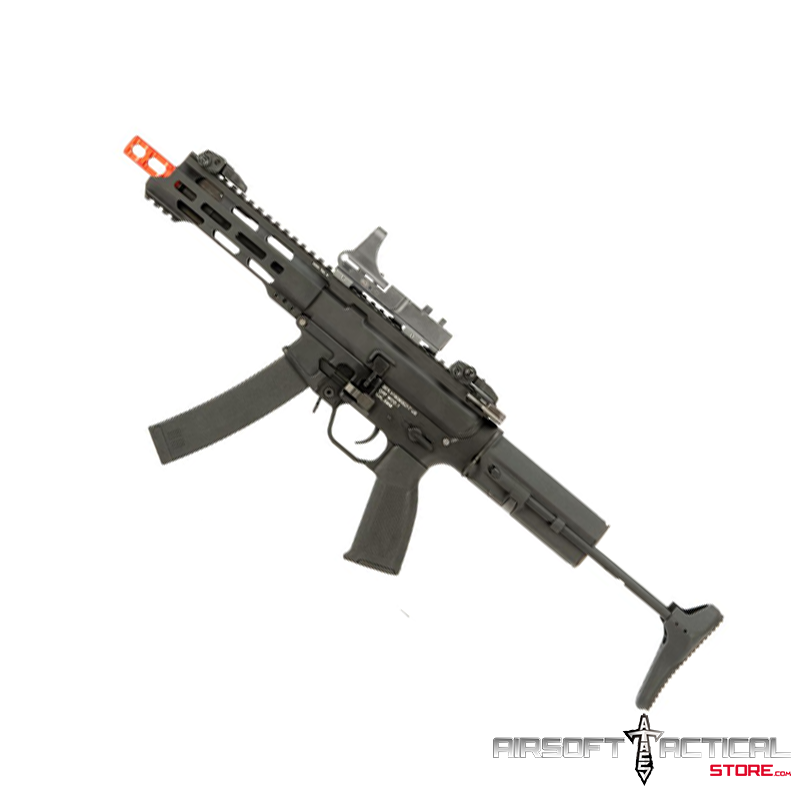 QRF Pistol Caliber AR w/ Adjustable FPS AEG 2.5 Gearbox (Model: MOD.1) by KWA