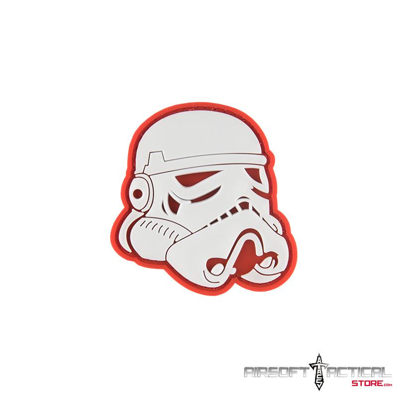 Star Wars Stormtrooper Helmet PVC Morale Patch by Lancer Tactical