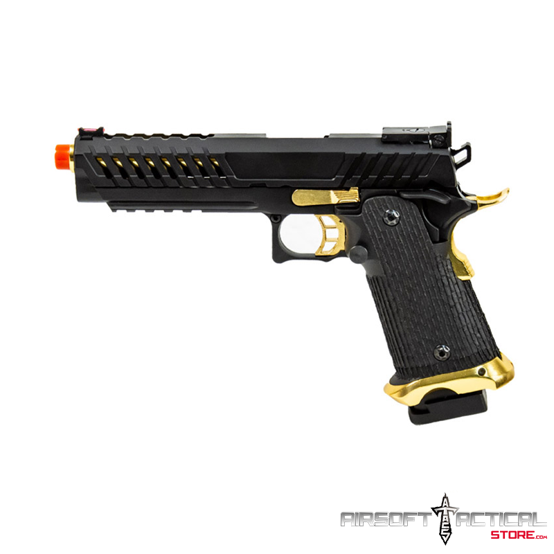 Knightshade Hi-Capa Gas Blowback Airsoft Pistol (Color: Black / Gold) by Lancer Tactical